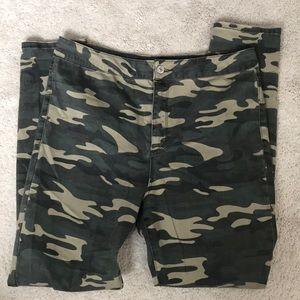 Forever 21 CAMO Straight Leg Pants